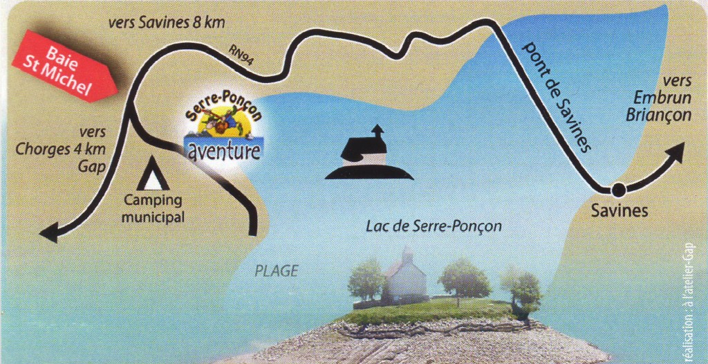 Access toptree Serre Ponçon Aventure Park