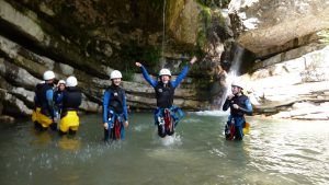 Timetable and prices Canyoning
